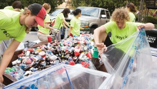 fraternity recycling fundraiser